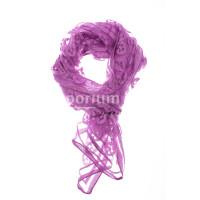 Foulard primaverile da donna PESCA, design floreale, colore VIOLA, EMPORIUM ITALY