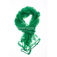Foulard primaverile da donna PESCA, design floreale, colore VERDE, EMPORIUM ITALY