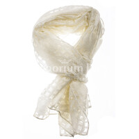 Spring scarf for woman ANANAS,  checkered design, <strong>CHAMPAGNE</strong> colour, EMPORIUM ITALY
