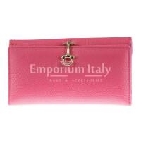Portafoglio in vera pelle da donna MIMOSA MAXI, colore ROSA, SANTINI, MADE IN ITALY