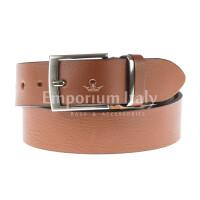 Cintura uomo in vera pelle MAGIONE, colore MIELE, EMPORIO TITANO, Made in Italy
