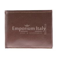 Portafoglio in vera pelle da uomo MAROCCO, colore MARRONE, VALENTINI, MADE IN ITALY