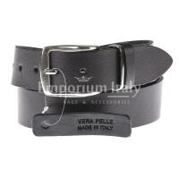 Cintura uomo in vera pelle L'AQUILA, colore TESTA MORO, EMPORIO TITANO, Made in Italy