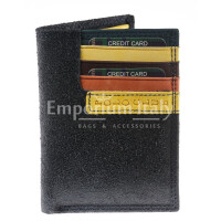 Genuine nubuck leather wallet for woman BOLOGNA, BLACK colour, YELLOW inside, HARVEY MILLER - POLO CLUB, MADE IN ITALY