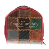 Portafoglio in vera pelle da donna GIORGIA, MULTICOLOR, ARIANNA DINI, MADE IN ITALY
