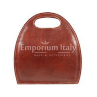 Borsa donna in vera pelle RINO DOLFI mod. WINONA, colore MARRONE, Made in Italy.