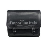 Borsa uomo in vera pelle RINO DOLFI mod. LORY, colore NERO, Made in Italy.