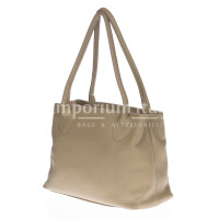 Borsa donna in vera pelle DELIA REI mod. ENRICA colore BEIGE Made in Italy