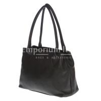 Borsa donna in vera pelle DELIA REI mod. ENRICA colore NERO Made in Italy