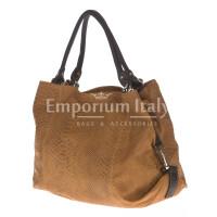 Borsa donna in vera pelle CHIARO SCURO mod. DIVA colore MARRONE Made in Italy