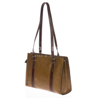 Borsa donna in vera pelle RINO DOLFI mod. MARINA colore TAUPE / MARRONE, Made in Italy