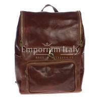 Borsa zaino in vera pelle MAESTRI mod. EVEREST MAXI colore MARRONE Made in Italy.