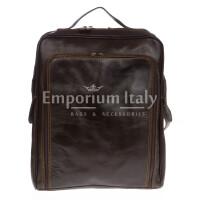 Borsa zaino in vera pelle RINO DOLFI mod. MONTE BIANCO maxi colore TESTA DI MORO Made in Italy.