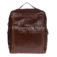 Borsa zaino in vera pelle RINO DOLFI mod. MONTE BIANCO maxi colore MARRONE Made in Italy.