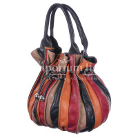 Borsa donna in vera pelle DELIA REI mod. SABRINA colore MULTICOLORE Made in Italy