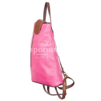 Borsa donna in vera pelle CHIARO SCURO mod. MONTE ETNA colore MARRONE ROSA Made in Italy