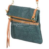 Borsa donna in vera pelle CHIARO SCURO mod. SAMANTHA colore BLU Made in Italy