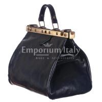 Borsa donna in vera pelle MAESTRI mod. TARO colore NERO Made in Italy