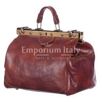 Borsa donna in vera pelle MAESTRI mod. TARO colore MARRONE Made in Italy