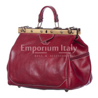 Borsa donna in vera pelle MAESTRI mod. TARO colore ROSSO Made in Italy