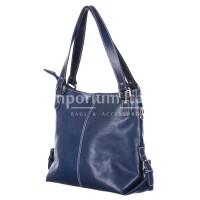 Borsa a spalla da donna in vera pelle ANTONELLA, colore BLU, RINO DOLFI, MADE IN ITALY