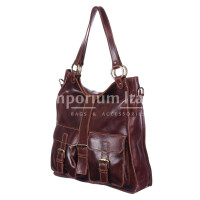 Borsa donna in vera pelle MAESTRI mod. BETTY colore MARRONE Made in Italy