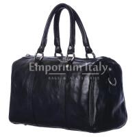 Borsa donna in vera pelle RINO DOLFI mod. CATIA colore NERO Made in Italy.