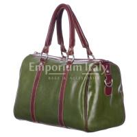 Borsa donna in vera pelle RINO DOLFI mod. CATIA colore MARRONE VERDE Made in Italy.
