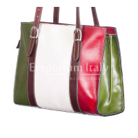 Borsa donna in vera pelle RINO DOLFI mod. MARINA colore MULTICOLORE Made in Italy