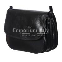 Borsa donna in vera pelle RINO DOLFI mod. TAMMY colore NERO Made in Italy