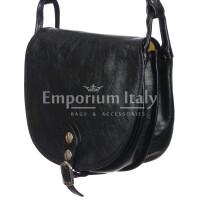 Borsa donna in vera pelle RINO DOLFI mod. TATIANA colore NERO Made in Italy