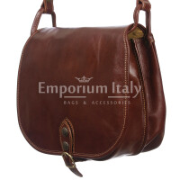 Borsa donna in vera pelle RINO DOLFI mod. TERESA colore MARRONE Made in Italy