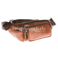 Borsa marsupio uomo in vera pelle MAESTRI mod. LUCAS colore MARRONE Made in Italy