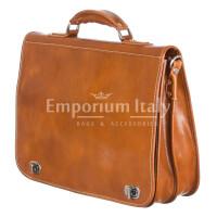 Cartella ufficio/lavoro uomo e donna in vera pelle MAESTRI mod. GIORGIO colore MIELE Made in Italy.