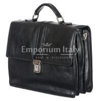 Cartella ufficio / lavoro in vera pelle RINO DOLFI mod. MAURIZIO colore NERO Made in Italy.