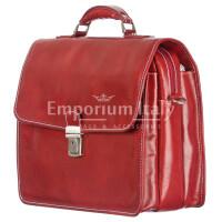 Cartella ufficio / lavoro uomo in vera pelle RINO DOLFI mod. STEFANO, misura XL, colore ROSSO Made in Italy.