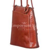 Borsa zaino donna in vera pelle RINO DOLFI mod. MONTE CIMONE colore MARRONE Made in Italy.