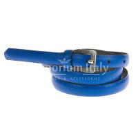 Cintura donna in vera pelle DELIA REI mod. STOCCARDA colore BLU Made in Italy