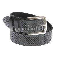 Cintura donna in vera pelle GIULY mod. STOCCOLMA colore BLU Made in Italy