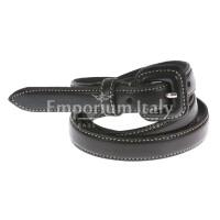 Cintura donna in vera pelle RENATO BALESTRA mod. UDINE colore NERO Made in Italy