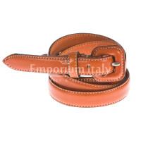 Cintura donna in vera pelle RENATO BALESTRA mod. UDINE colore ARANCIO Made in Italy