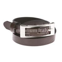 Cintura donna in vera pelle DELIA REI mod. CARRARA colore NERO Made in Italy