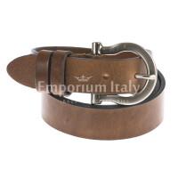 Cintura donna in vera pelle DELIA REI mod. ZAGABRIA colore MARRONE Made in Italy