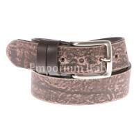 Cintura uomo in vera pelle RINO DOLFI mod. BARI colore TESTA DI MORO Made in Italy