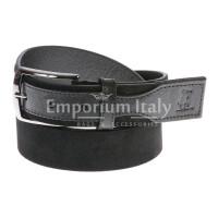 Cintura uomo in vera pelle HARVEY MILLER mod. COSENZA colore NERO Made in Italy