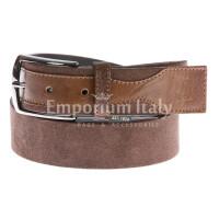 Cintura uomo in vera pelle HARVEY MILLER mod. COSENZA colore MARRONE Made in Italy
