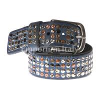 Cintura uomo in vera pelle RINO DOLFI mod. CARACAS colore BLU Made in Italy