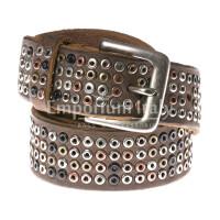 Cintura uomo in vera pelle RINO DOLFI mod. CARACAS colore MARRONE Made in Italy
