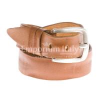 Cintura uomo in vera pelle GIULY mod. PESARO colore MIELE Made in Italy