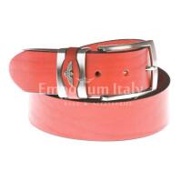 Cintura uomo in vera pelle GP & MAX mod. PORTLAND colore ROSSO Made in Italy